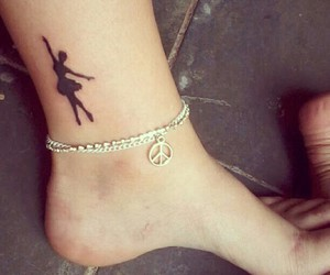 tattoo, ballet, and dance image