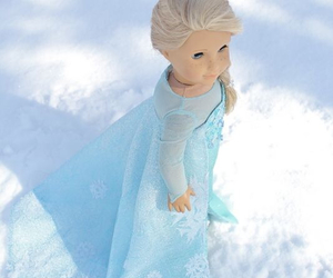 american girl, doll, and queen elsa image