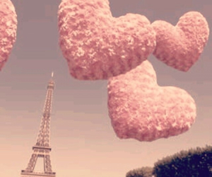 paris, pink, and hearts image