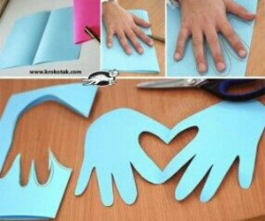 diy card and heart with hands image