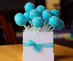 blue, cake pops, and cake image