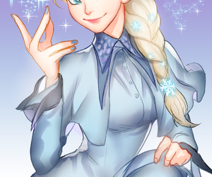 fan art, frozen, and elsa image