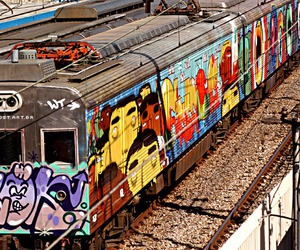 ink, train, and os gemeos image
