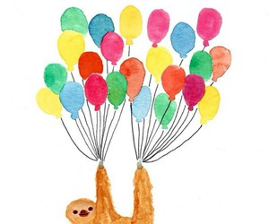 animal, balloons, and draw image