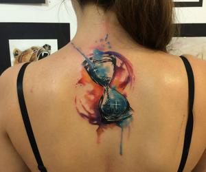 tattoo, watercolor tattoo, and watercolor image