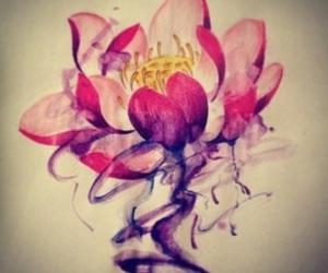 black, lotus flower, and purple image