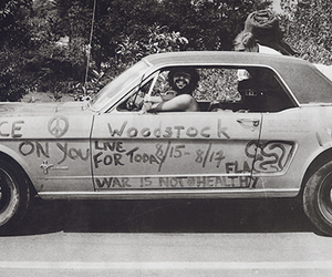 car, hippie, and woodstock image