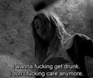 drunk, quote, and sad image