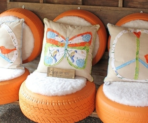 diy, orange, and chair image