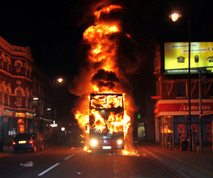 fire, riot, and london image