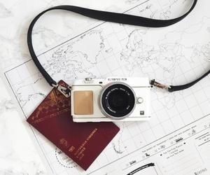 camera, holiday, and map image