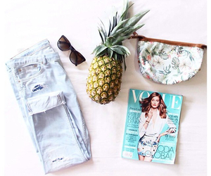 jeans, pineapple, and summer image