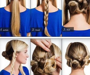 girls, hair, and tutorial image