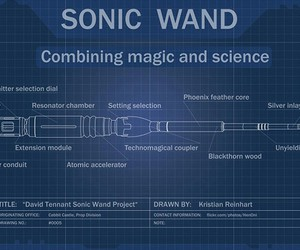 doctor who, harry potter, and sonic screwdriver image