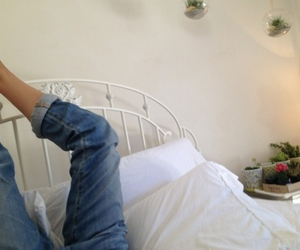 jeans, love, and bed image