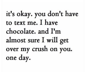 chocolate, crush, and text image