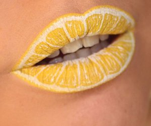 lips, yellow, and lemon image