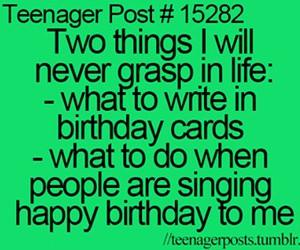 teenager post, birthday, and funny image