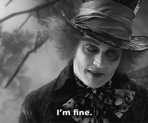 fine, alice in wonderland, and johnny depp image