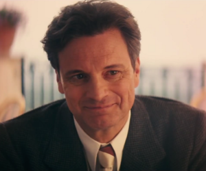 Colin Firth and smile image