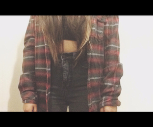flannel, outfit, and style image