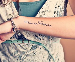 hakuna matata, tattoo, and lion king image