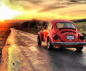 beetle, red, and travel image