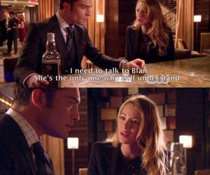 blake lively, chuck bass, and gossip girl image