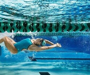swimming and girl image