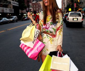 shopping, girl, and dress image