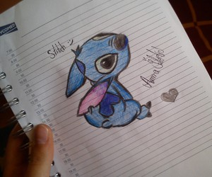drawings, stitch, and cute image