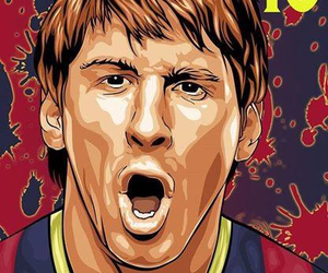 Barca, leo messi, and drawing image