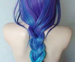 blue, hairstyle, and hair image