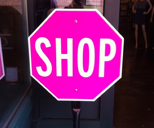 shop, pink, and shopping image