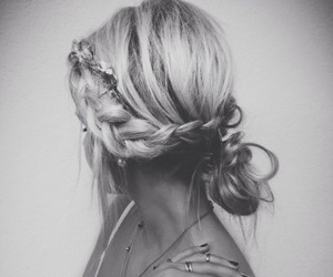 black and white, curly, and faceless image