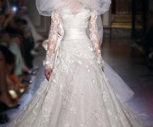 wedding dress, elegant, and runway image