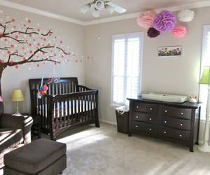 nursery, colorful ornaments, and colorful cushions image