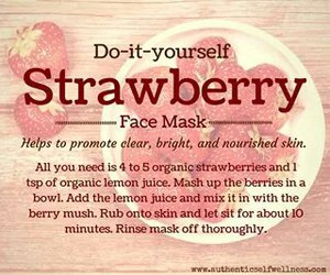 diy, strawberry, and beauty image