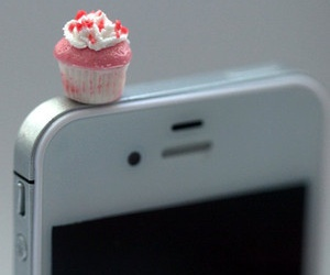cupcake, gadgets, and iphone image