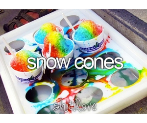 color, snow cones, and food image