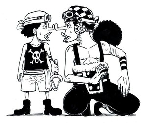 one piece, usopp, and anime image