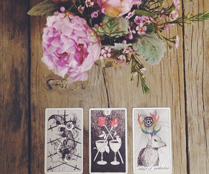 cards, flowers, and magic image