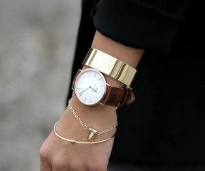 accessories, clock, and girl image