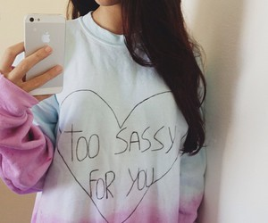 girl, iphone, and sassy image