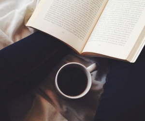 black, book, and coffee image