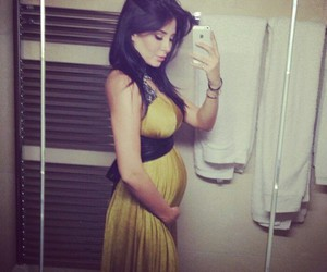 dress, luxury, and pregnancy image