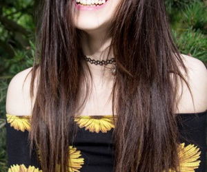 model and smile image