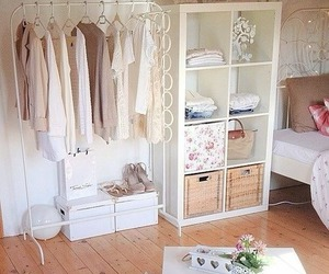bedroom, white, and clothes image