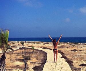 abroad, beach, and bikini image