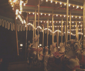vintage, horse, and lights image